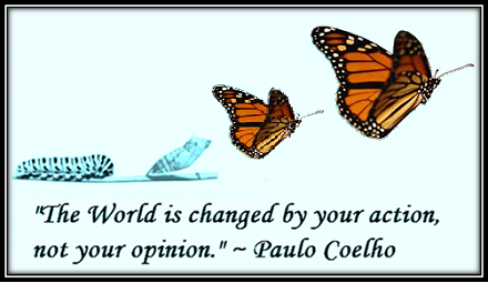 You cannot change the world unless you change too.