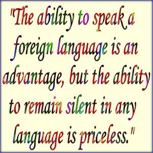 Priceless silence.