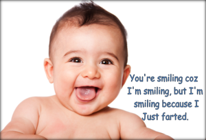 Smile and the whole world smiles with you regardless of the reason for the smile.