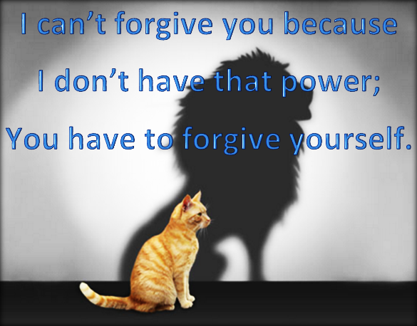 Everybody is given the power to forgive one person.