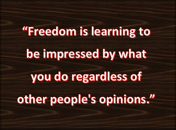 Freedom of thought is true freedom