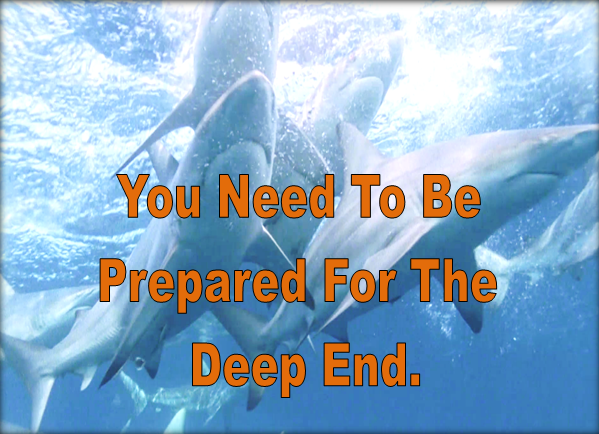 You need to be prepared for the deep end.