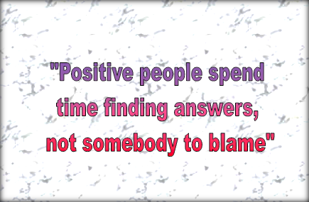 find answers not blame