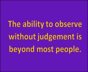 observation judgement