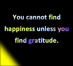 happiness and gratitude are linked.