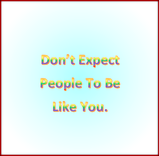 Managing your expectations 1