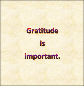 Gratitude is an important sign