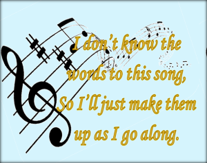 Lyrics are something