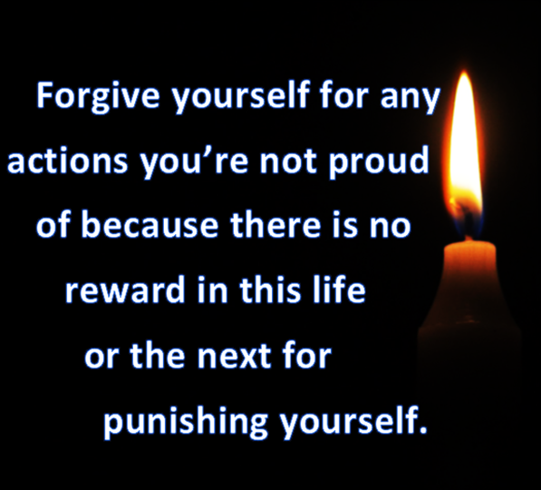 Only your enemies are rewarded when you punish yourself.