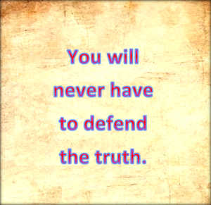 The person who always tells the truth is free from guilt.