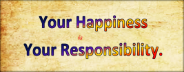You are responsible for your life.
