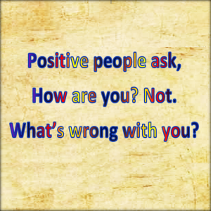 I am pasionate about being positive