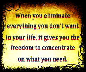 Life is a process of elimination