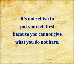 You cannot give what you do not have