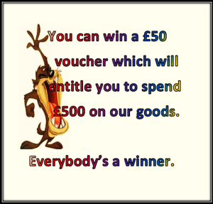 Before you give somebody a voucher make sure they can afford your present