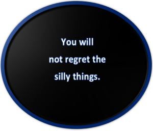 You will not regret the silly things