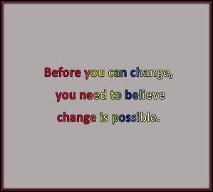 change happens in small ways