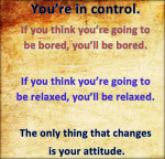 you have full control over your attitute