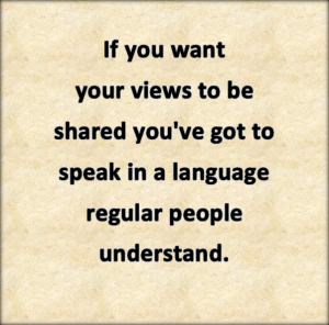 you have to share popular opinion