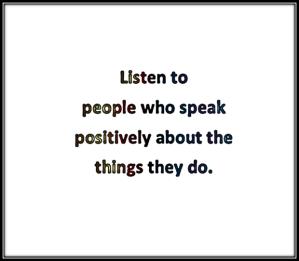 Listen to the right stuff disregard the rest